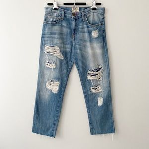 Current Elliott Super Love Destroy Boyfriend Jeans